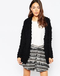 Jovonna Sunday Fluffy Jumper Black