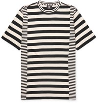 Paul Smith Slim Fit Striped Cotton Jersey T Shirt Black