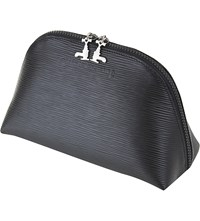 Czech And Speake Black Soft Leather Travel Pouch