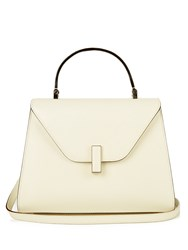Valextra Iside Medium Grained Leather Bag White