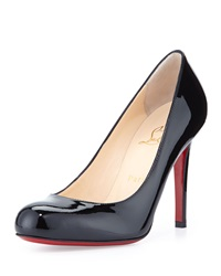 Christian Louboutin Simple Patent Red Sole Pump Black