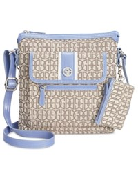 Giani Bernini Annabelle Signature Crossbody Bag Only At Macy's Chambray