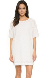 Current Elliott The Eyelet T Shirt Dress Dirty White Eyelet
