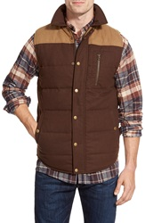 United By Blue 'Drummond' Colorblock Quilt Insulated Vest Tan Brown
