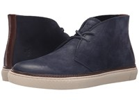 Frye Gates Chukka Indigo Sunwash Nubuck Men's Lace Up Boots Black