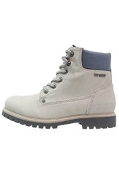 Tom Tailor Laceup Boots Ice Off White