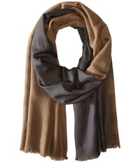 Love Quotes Travel Weight Cashmere Dip Dye Scarf Muse Cement Scarves Brown