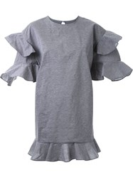 Dress Camp Ruffled Tiered Mini Dress Grey