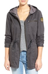 Women's Rvca 'Labeled' Hooded Cotton Jacket
