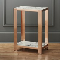 Cb2 Via Marble Side Table