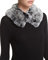 Surell Rabbit Fur Collar Chinchilla
