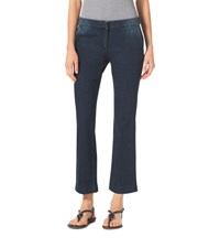 Michael Michael Kors Denim Cropped Flare Trousers