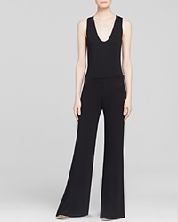 Riller And Fount Jumpsuit Rooney Cross Back Wide Leg Coal