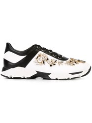 Rene Caovilla 'Hill' Embellished Sneakers White