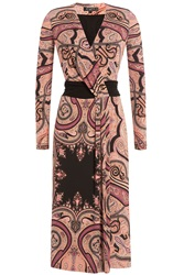 Etro Stretch Jersey Printed Dress Multicolor