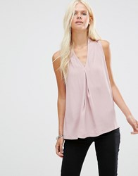 Minimum Cea Pleated Sleeveless Top Wood Rose Pink