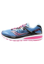 Saucony Triumph Iso 2 Cushioned Running Shoes Blue Pink