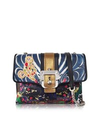 Paula Cademartori Carine Monkey Multicolor Leather Shoulder Bag
