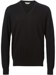 Cerruti 1881 Paris V Neck Sweater Black