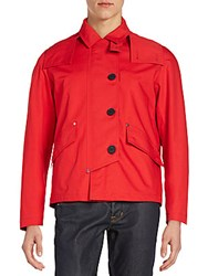 Christian Dior Hooded Jacket Rouge