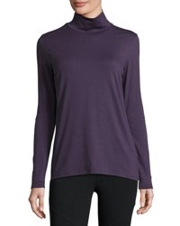 Grey State Jaime Cutout Sleeve Turtleneck Tee Grape