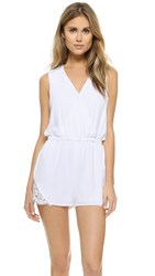 Cupcakes And Cashmere Irina Romper With Lace Trim White