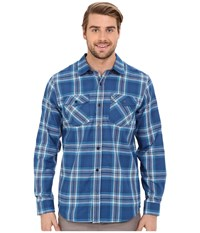 Hurley Dri Fit System Long Sleeve Court Blue Men's Long Sleeve Button Up