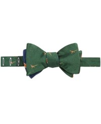 Brooks Brothers Men's Pheasant To Tie Bow Tie Green