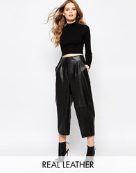 Hide Amy Cropped Baggy Trouser Black