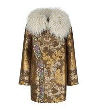 Etro Reversible Mongolian Sheepskin Parka Coat Female Green