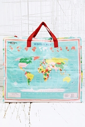Laundry Bag In World Map Print At Urban Outfitters