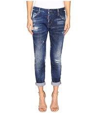 Dsquared Cool Girl In White Hi Light Wash Blue Women's Jeans