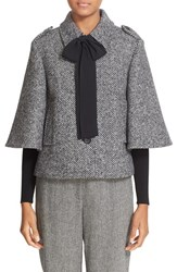 Red Valentino Women's Bow Detail Tweed Jacket