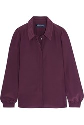 Vanessa Seward Carly Silk Shirt Burgundy