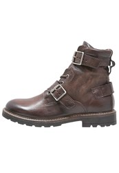 Mjus Icaro Laceup Boots Cacao Dark Brown