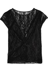 L'agence Mila Embroidered Lace Top Black