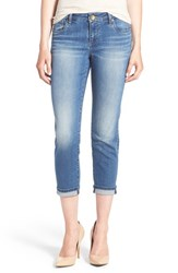 Women's Kut From The Kloth 'Catherine' Slim Crop Boyfriend Jeans Dark Stone