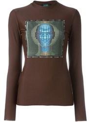 Jean Paul Gaultier Vintage 1995 96 'Laser Cut' Top Brown