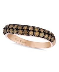 Le Vian Chocolate Diamond Wedding Band 9 10 Ct. T.W. In 14K Rose Gold