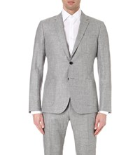 Reiss Roman Slim Fit Woven Blazer Grey
