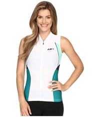 Louis Garneau Beeze Vent Sleeveless Jersey White Green Women's Sleeveless Gray