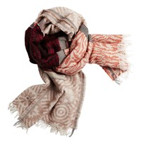 Sandwich Wall Paper Scarf Red