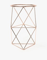 Eric Trine Octahedron Ring Planter Tall Copper