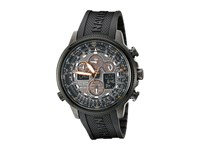 Citizen Jy8035 04E Navihawk A T Eco Drive Perpetual Chrono Strap Watch Black Ion Plated Stainless Steel Chronograph Watches