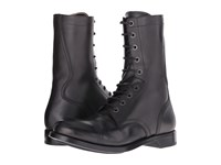Alexander Mcqueen Tall Lace Up Boot Black