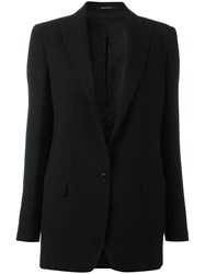 Tagliatore Single Button Blazer Black
