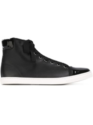 Lanvin Contrasted Toe Cap Sneakers Black