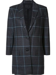 Alexander Wang Checked Blazer Blue