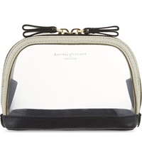 Aspinal Of London Hepburn Small Cosmetic Case Clear