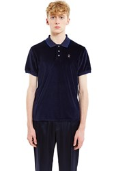 Opening Ceremony Velour Short Sleeve Polo Ink